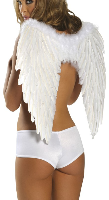 ANGEL FEATHER WINGS WHITE