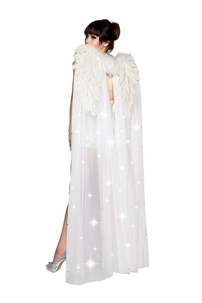 Double Layer Angel Wings White